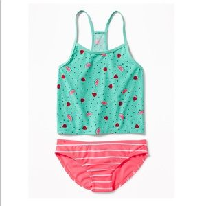 OLD NAVY MIXED PRINT TANKINI FOR GIRLS - NEW